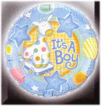 Motivballon-Its a boy Giraffe mit Helium
