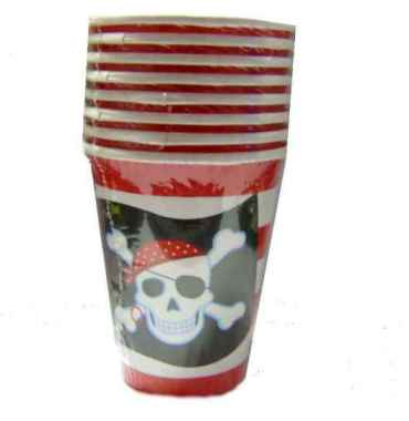 Pappbecher Piratenparty 260 ml 8er