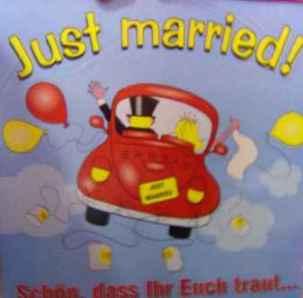 Hochzeit Schild Just Married