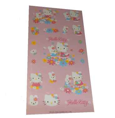 Hello Kitty Flower Garden Sticker