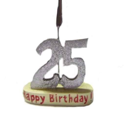 Geburtstag Memohalter Zahl 25