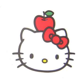 Hello Kitty Magnet Face, Apple