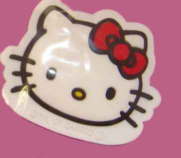 Hello Kitty Magnet Face, red