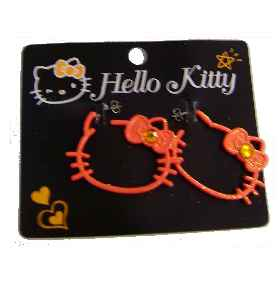 Hello Kitty XL Ohrstecker Pop ORANGE