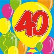 40. Geburtstag - Servietten BALLOONS