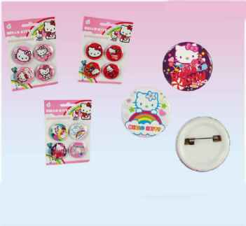 Hello Kitty 4x Ansteck Button
