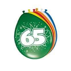 Geburtstag - Zahlenballon Zahl 65