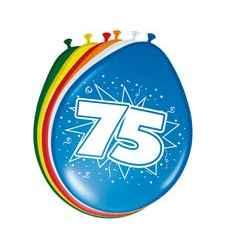 Geburtstag - Zahlenballon Zahl 75