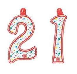 Geburtstag - Aufblasbare Zahl 21
