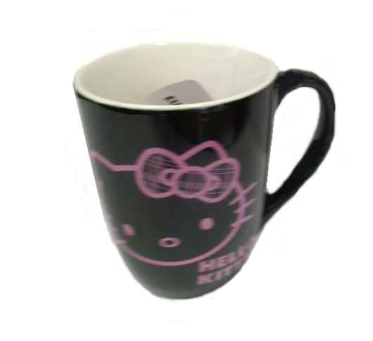Hello Kitty Kaffeebecher RIBBON Black