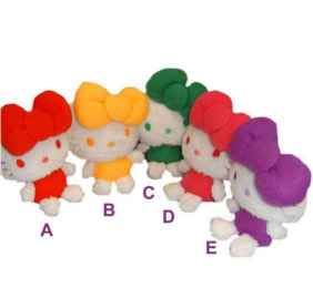 Hello Kitty Pl�schfigur COLORS