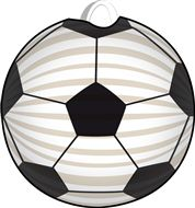 Lampion in Fussballform