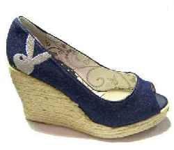 Playboy - High Heel Wedge BLUE