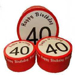 Geschenkschachtel zum 40.Geburtstag
