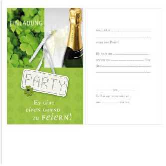Geburtstag   Einladungskarten PARTY