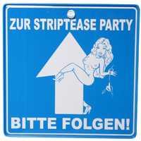 Verkehrsschild Striptease