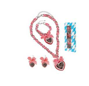 Schmuck Set WIESN, rot