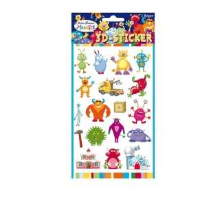 3D-Sticker Monster