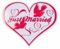 Blechschild Just Married