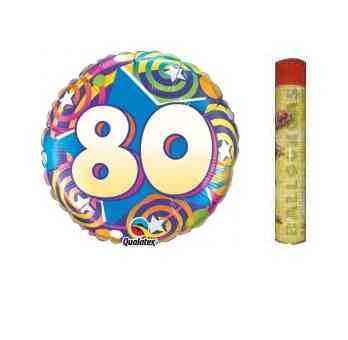 80. Geburtstag Folienballon Set