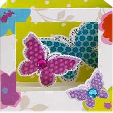 3 D Pop Up Karte Geburtstag Butterfly