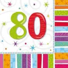 Geburtstag - 80 er Servietten