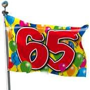 Geburtstag - Fahne 65. Geburtstag