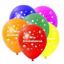 Motivballons   Wir Gratulieren