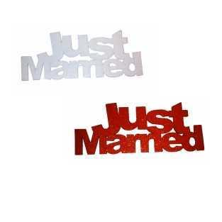 Schriftzug Just Married