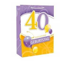 Geschenktasche zum 40.Geburtstag