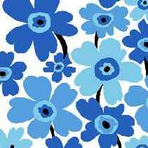 Servietten Flower Power, blau