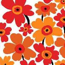 Servietten Flower Power, orange