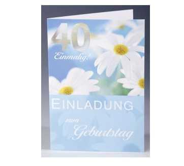 Einladungskarten zum 40.Geburtstag