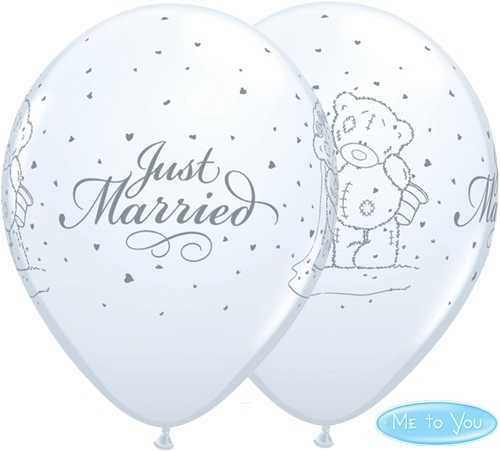 Just Married Teddy Latexluftballons