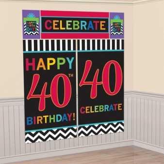 Wandtapete zum 40. Geburtstag