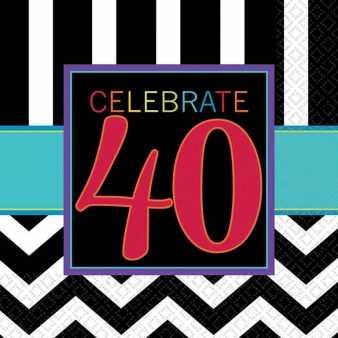 Papierservietten zum 40. Geburtstag