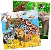 Papier Servietten Safari Party