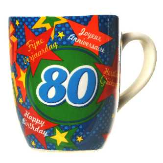 Happy Birthday Kaffeebecher 80