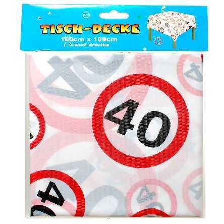 Tischdecke zum 40. Geburtstag