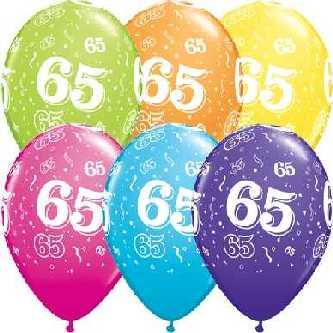 latex luftballons zum 65 geburtstag. Black Bedroom Furniture Sets. Home Design Ideas