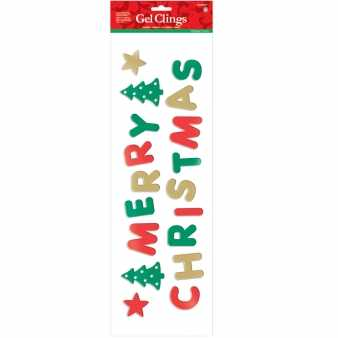 Fenster Merry Christmas Gel Clings