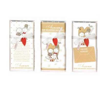 Goldene Hochzeit - Schokolade