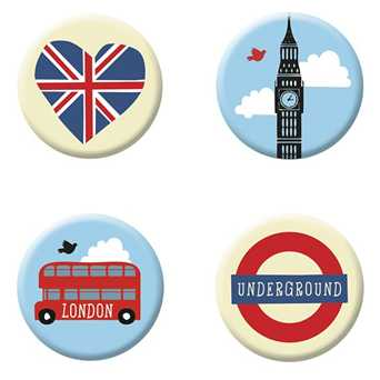 Fernweh Magnete London (4er Set)