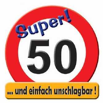 Geburtstag Schild Zahl 50