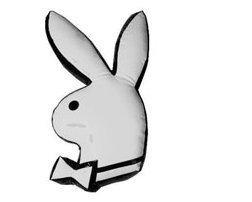 Playboy Kissen, Bunny Lack weiss