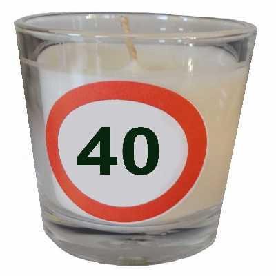 Partyteelicht zum 40. Geburtstag