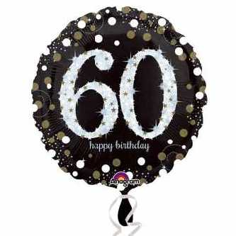 Happy Birthday Folienballon Sparkling 60