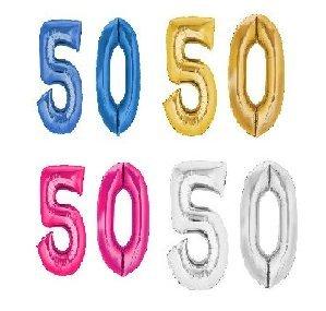 Geburtstag XXL Folienballon Zahl 50