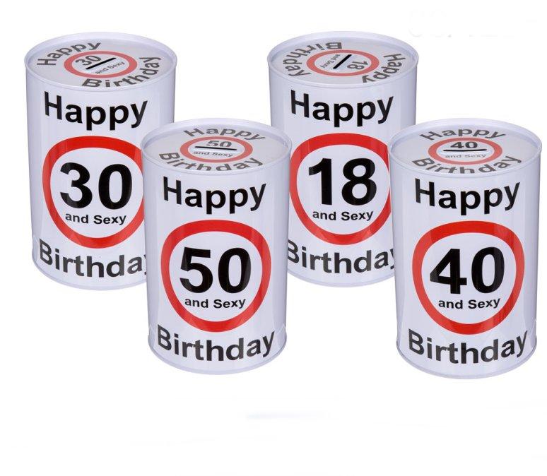 Spardose zum 40. Geburtstag