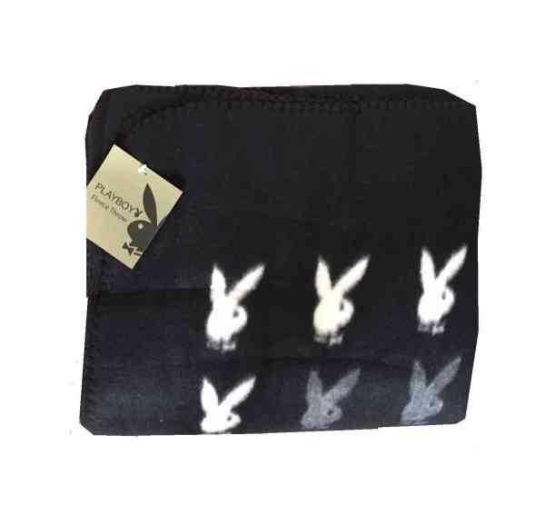 Playboy-Kuscheldecke Bunny black